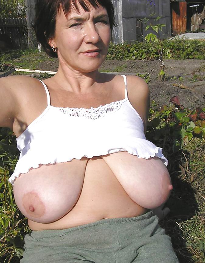 Shirt busting breasts