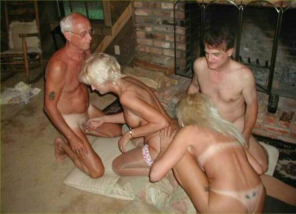 Old couple orgy