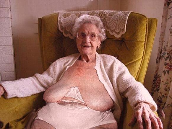 Real granny tits