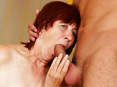 lucky granny sucking big cock