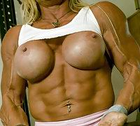 Just see pictures of beautiful muscle girls and have nice jerking wishing to have sex with them!