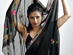 Meeta indian amateur giving sexy poses in indian sari