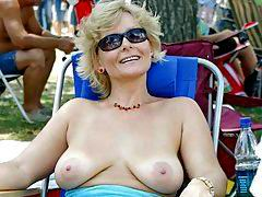horny grannies at home and outdoors